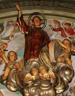 Escultura del Sant a la parròquia